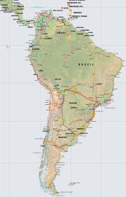 Map Of Colombia South America by Central America Caribbean And South America Pipelines Map Crude