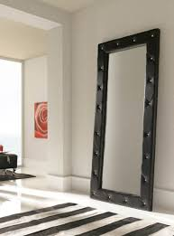 White Bedroom Wall Mirror Luxurious Quilted 2 Metre Tall Black Wall Mirror Full Length