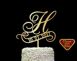 h cake topper letter h cake topper cake toppers for wedding letter and