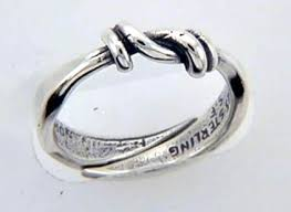 a knot ring silver knot ring