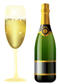 wine clipart new year sparkling wine and glass gallery yopriceville high