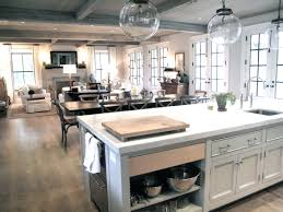 kitchens open kitchen floor plans with island including design