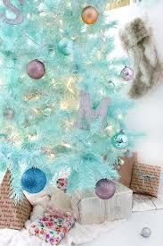 diy mint green christmas tree spray painted tree a joyful riot