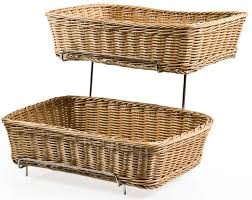 tiered wicker baskets resistant to mold