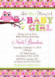 Baby Shower Invitation Card Sample Owl Baby Shower Invitations Kawaiitheo Com