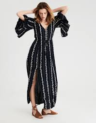 sleeve maxi dress ae bell sleeve maxi dress black american eagle outfitters