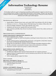 experienced resume sample information technology it resume sample resume companion