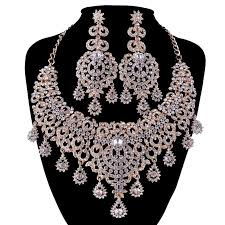 necklace with earrings set images Authentic bridal necklace earrings set omexpression jpg