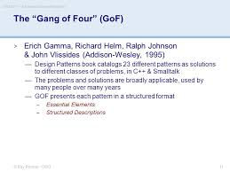 design pattern c gang of four csci 6221 advanced software paradigms fall ppt download