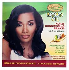 no lye conditioning relaxer smooth organic u0027s monoi oil kits
