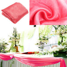 coral 5m 1 35m organza fabric wedding decoration table