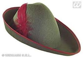 como hacer un sombrero de robin hood en fieltro disfraz robin hood sombrero verde pluma roja peter pan flautista de