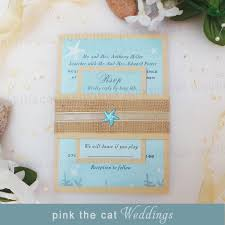 30 wedding invitations lace blue beach pocket fold square set