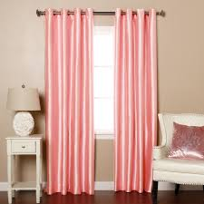 best home decor stores striped dupioni faux silk grommet top blackout curtain 84 l best
