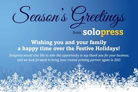 season s greetings from solopress