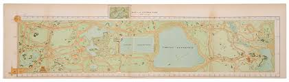 Central Park Zoo Map Map Of The Central Park April 20th 1871 Christie U0027s Christie U0027s