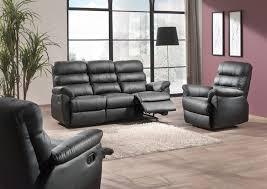 canap cuir 6 places ensemble de salon en cuir noir relax de 2 à 6 places composé de