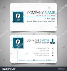 blue modern creative business card name stock vector 583952026