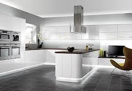 Kitchen With Grey Floor by White Kitchen Grey Floor Wood Floors