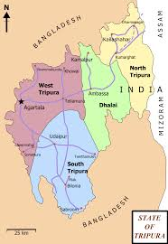 India State Map by Portal India Selected Picture Candidates Tripura District Map