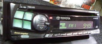 original toyota corolla radio cd player alpine 7856t original toyota corolla filder