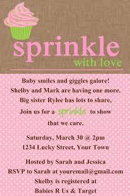 sprinkle baby shower cupcake invitation template 4x6