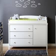 White Dresser And Changing Table South Shore Cotton Changing Dresser Reviews Wayfair