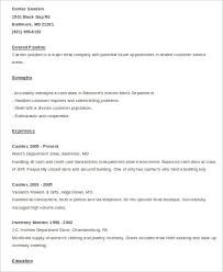 Cashier Resume Samples by Cashier Resume Sample 8 Examples In Word Pdf