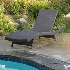 Patio Recliner Lounge Chair Grey Outdoor Lounge Chairs You Ll Wayfair