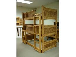 three bunk beds b063 triple bunk bed mission the bunk loft factory