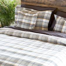 Flannel Duvet Covers Bambeco Brigham Plaid Flannel Duvet Cover King Organic Cotton