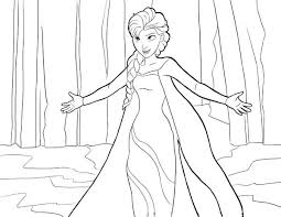 colouring picture elsa elsa holding balloons colouring