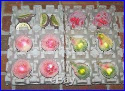 lot 95 glass ornaments krebs dept 56 sur latable fruits