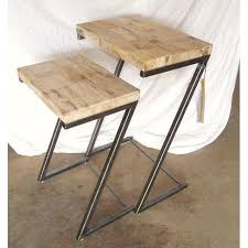 bernhardt petrified wood side table bernhardt petrified wood nesting tables a pair chairish