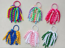 bobbles hair girl 5 o a korker ponytail holders korkers curly ribbons streamers