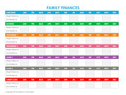 How To Make Budget Spreadsheet Free Printable Family Budget Worksheets