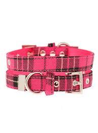 pink tartan fuschia pink tartan collar berties boutique