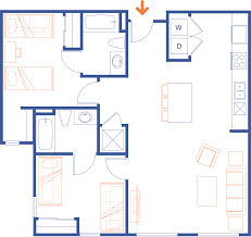 Two Bedroom Floor Plans Clemson Sc Apartments Grandmarc Clemson Floor Plans