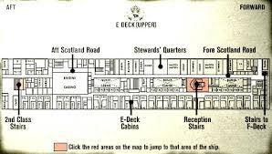 titanic floor plan titanic review and walkthrough