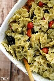 Pasta Salad Ingredients Pesto Pasta Salad Frugal Mom Eh