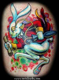 for unique orrin hurley tattoos white rabbit u003d