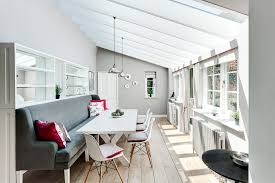 dining table with banquette seating dining room scandinavian with