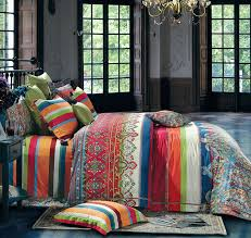amazon com bohemian duvet cover striped ethnic boho reversible