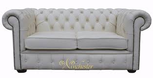 White Leather Chesterfield Sofa Chesterfield 2 Seater White Leather Sofa Offer