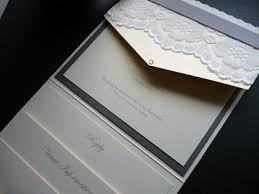 pocket fold gold ivory pocketfold wedding invitation with lace and ribbon