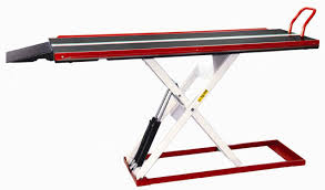 motorcycle lift table plans heavenly motorcycle air lift bench is like backyard minimalist wall