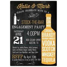 stock the bar party stock the bar typography engagement party invitations paperstyle