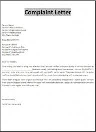 sample letter of complaint to district cover letter templates