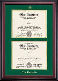 diploma frame traditional style for bachelor s and master s diploma frame ohio