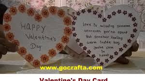 Valentine S Day At Home by Diy Art And Craft How To Make Valentine U0027s Day Card At Home Youtube